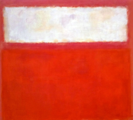 Untitled ( Pink And White Over Red), 1957