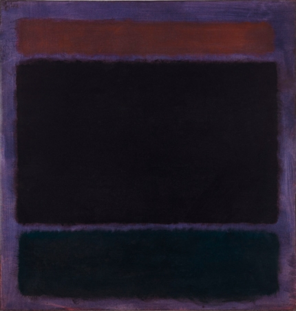 Untitled (Rust, Blacks On Plum)