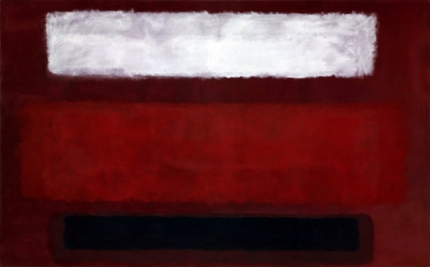 No. 9 (White And Black On Wine), 1958