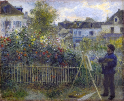 Monet Painting in his Garden at Argenteuil
