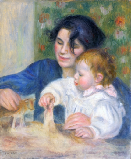 Gabrielle Renard and infant Son Jean Renoir, 1895