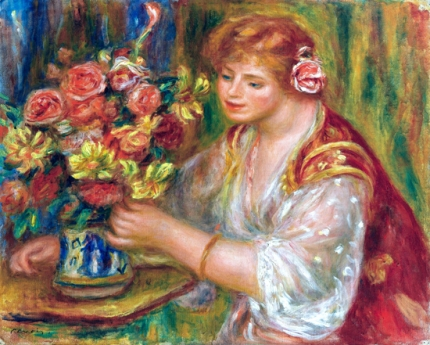 Woman Arranging Flowers 1917