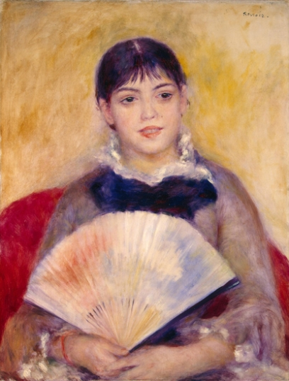 Girl with a Fan 1881