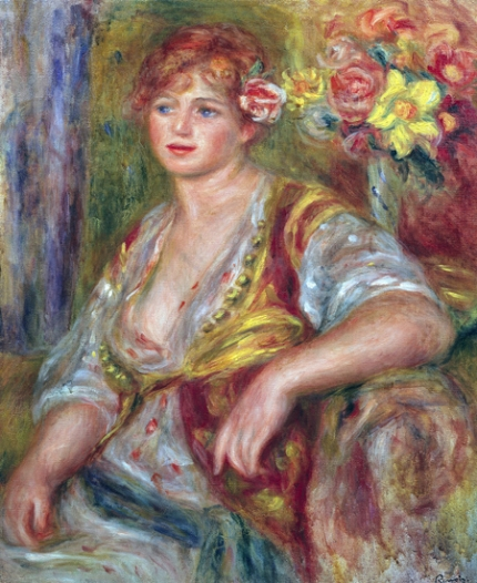 Blonde Woman with a Rose