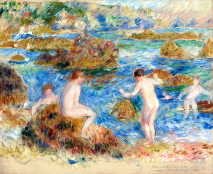 Naked Boys in the Rocks at Guernsey, 1883