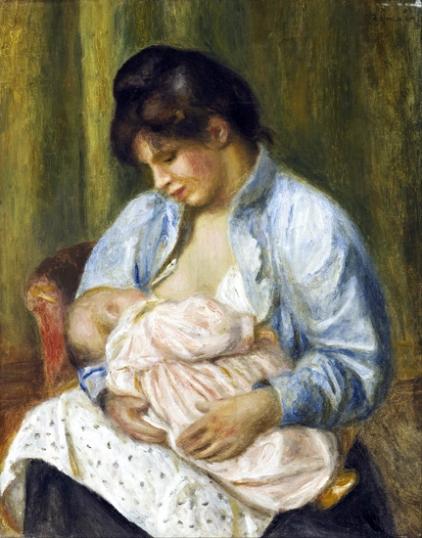 A Woman Nursing a Child
