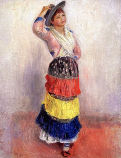 Woman Dancing in an Italian Costume