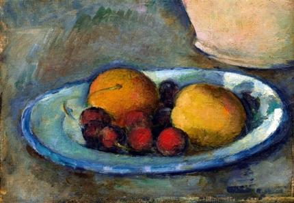 Abricots et Cerises sur une Assiette