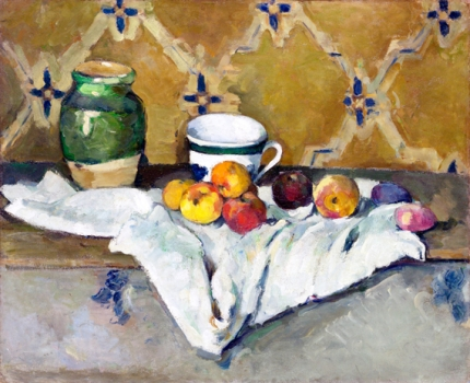 Still Life with Jar, Cup, and Apples 1877