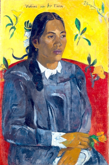 Tahitian Woman with a Flower