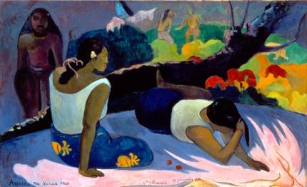 Arearea No Varua Ino (Reclining Tahitian Women)