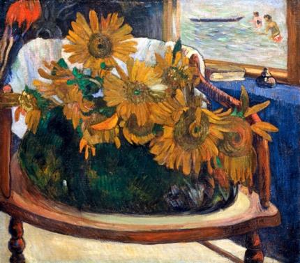 Sunflowers on An Armchair