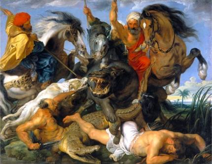 The Hippopotamus and Crocodile Hunt 1615