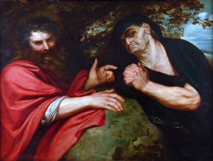 Democritus and Heraclitus