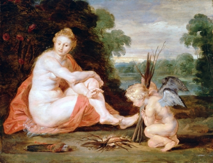 Venus and Cupid Warming Themselves 1610