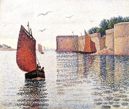 Concarneau Sardine Boat And The Old City