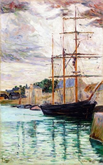 Port-En-Bessin, Les Trois-Mâts À Quai