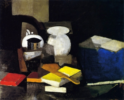 Still LIfe with Books and Boxes
