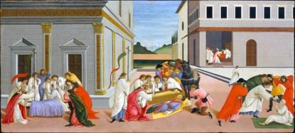 Three miracles of Saint Zenobius