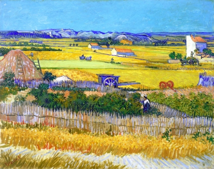 The Harvest With Blue Cart 1888