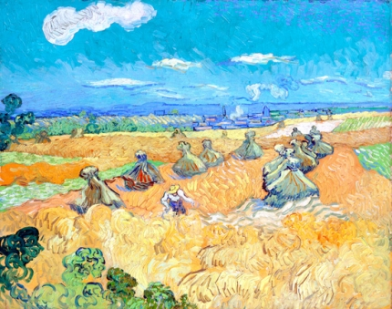 Wheat Field With Reaper, Auvers 1890