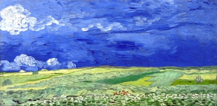 Wheatfield Under Thunderclouds 1890