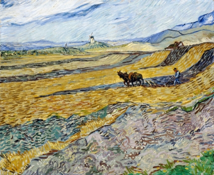 Enclosed Field With Ploughman 1889