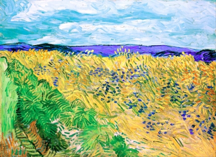 Wheatfield With Cornflowers 1890