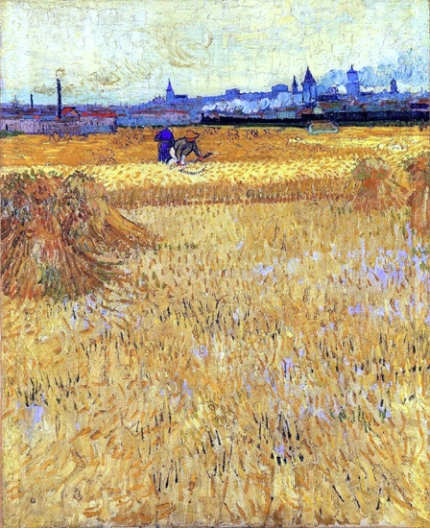 Arles-View From The Wheat Fields 1888