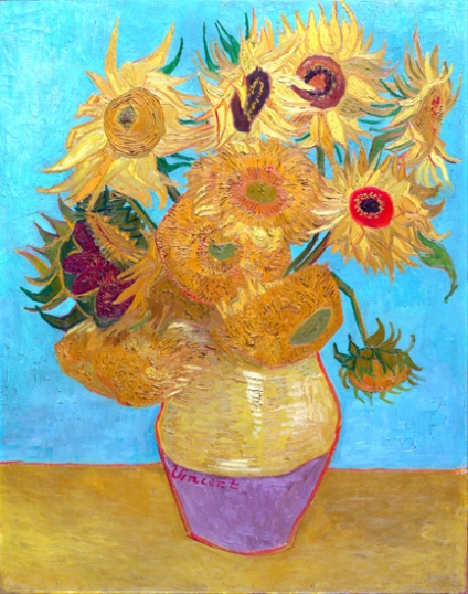 Sunflowers - Vase With Twelve Sunflowers