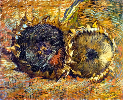 Still Life With Two Sunflowers. 1887