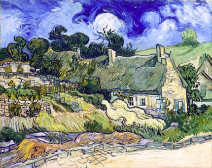 Thatched Cottages At Cordeville 1890