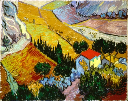 Landscape With Houses And Ploughman