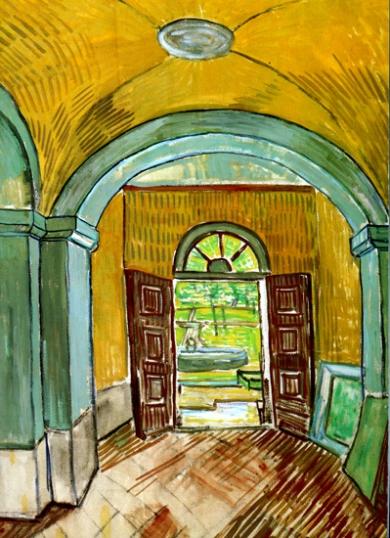 The Entrance Hall Of Saint-Paul Hospital