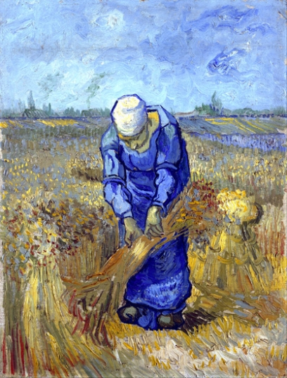 Peasant Woman Binding Sheaves (After Millet) 1889