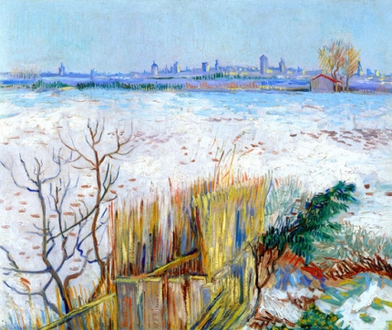 Snowy Landscape With Arles In The Background (1888)