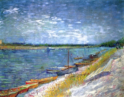 View Of A River With Rowing Boats