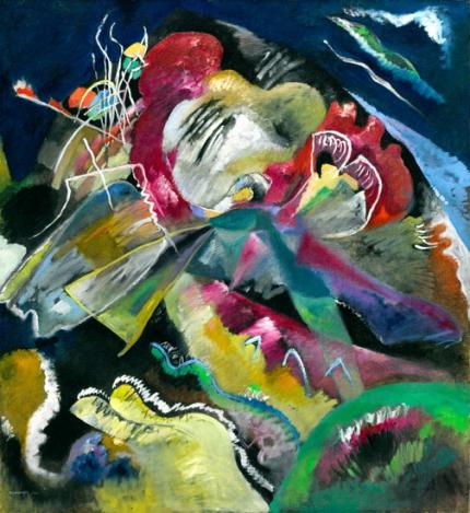 Bild Mit Weissen Linien (Painting With White Lines)
