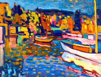 Studie Für Herbstlandschaft Mit Booten (Study For Autumn Landscape With Boats)