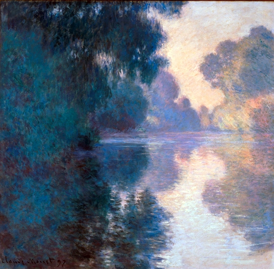 Morning On the Seine, Good Weather 1897 by クロード·モネ