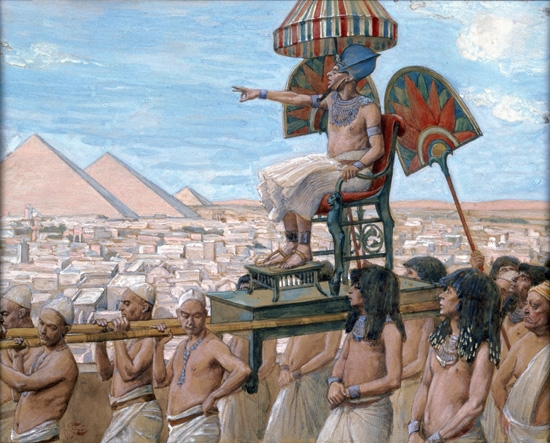 Pharaoh Notes the Importance of the Jewish People by James Tissot