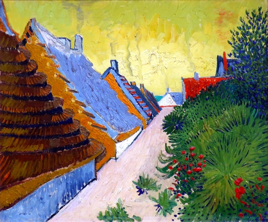 Street In Saintes-Maries-De-La Mer 1888 by Vincent Van Gogh