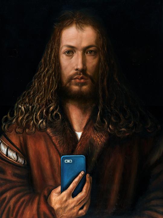 Self-Portrait at Twenty-Eight by Albrecht Dürer