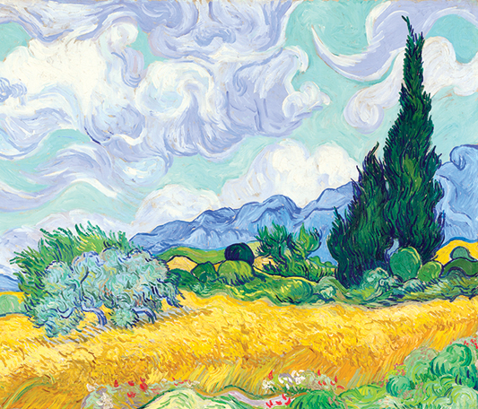 Painting of the week-A Wheatfield With Cypress by Vincent Van Gogh